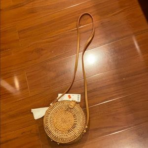 Urban Outfitters Mini Circle Weave bag